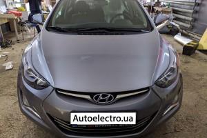 Hyundai Elantra - установка автосигнализации