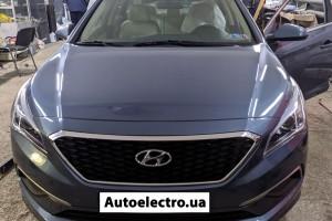 Hyundai Sonata - установка автосигнализации с автозапуском