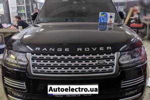 Range Rover Vogue - установка автосигнализации и замка капота