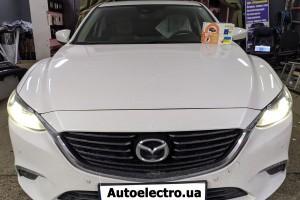 Mazda 6 - установка автосигнализации с автозапуском