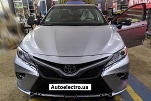Toyota Camry V70 - установка автосигнализации с автозапуском