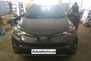 Toyota RAV4 - установка автосигнализации с автозапуском и ксенона