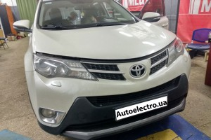 Toyota RAV4 - установка автосигнализации