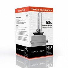 Ксеноновая лампа D1S Infolight 4300К 35 Вт +50%