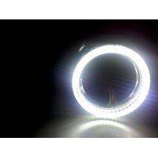 Биксеноновые линзы Galaxy G5 со светодиодными LED ангельскими глазками (белыми) - 2.5 дюйма