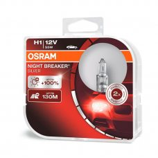 Галогенная лампа H1 Osram 64150NBS-HCB Night Breaker Silver +100%