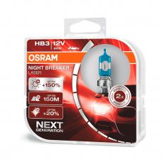 Галогенная лампа HB3 (9005) Osram 9005NL-HCB Night Breaker Laser Next Generation +150%
