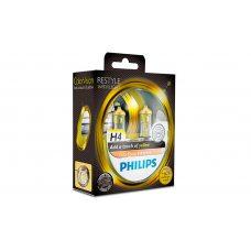 Галогенная лампа H4 Philips 12342CVPYS2 ColorVision желтый
