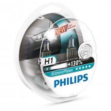 Галогенная лампа H1 Philips 12258XV+S2 X-tremeVision +130%