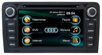 Штатная магнитола для Audi A3 2005+ RoadRover