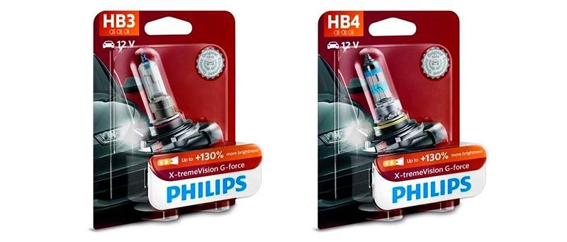 галогенные лампы Philips X-tremeVision G-force