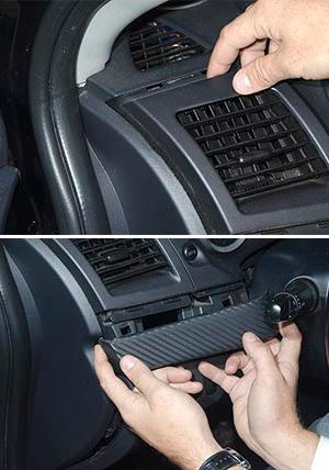 Установка GPS маяка в салоне авто