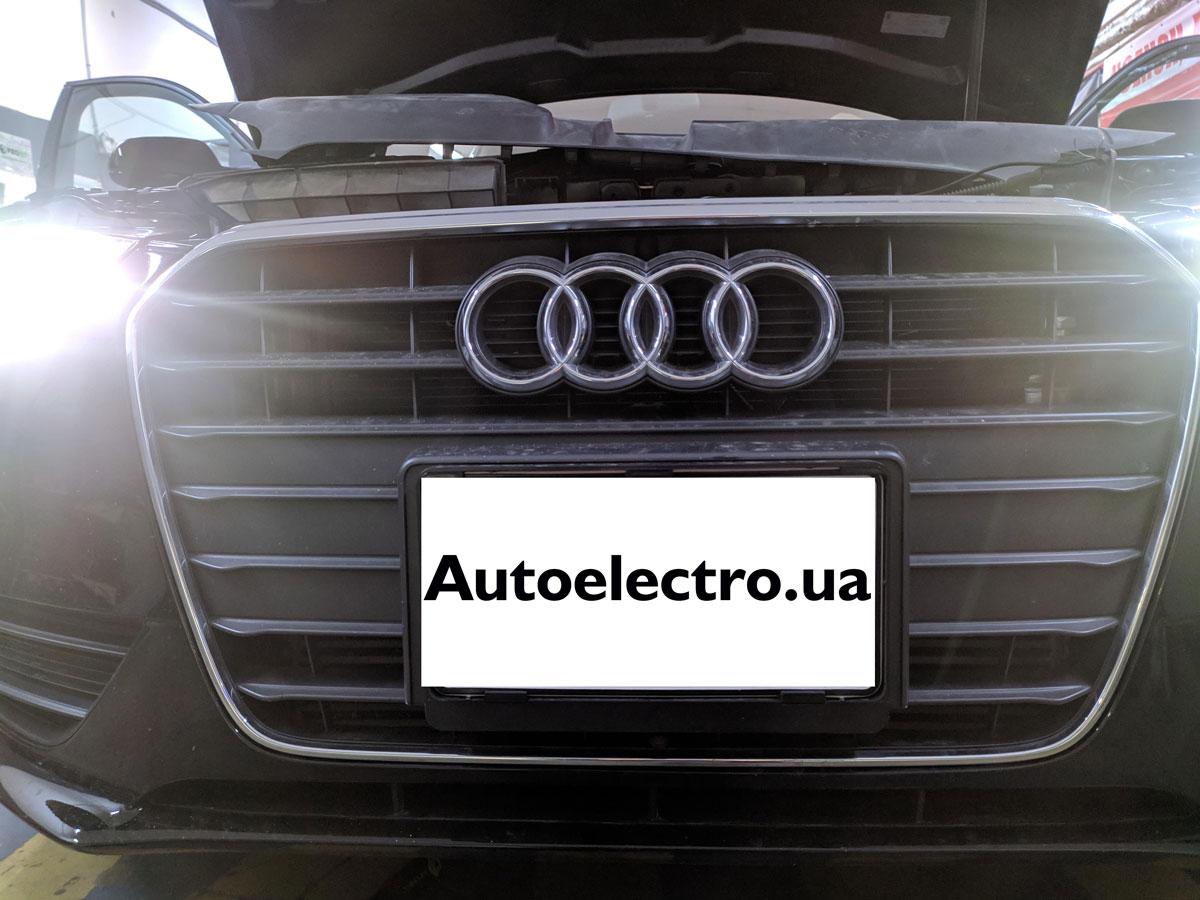 Установка камеры переднего вида на Audi A4