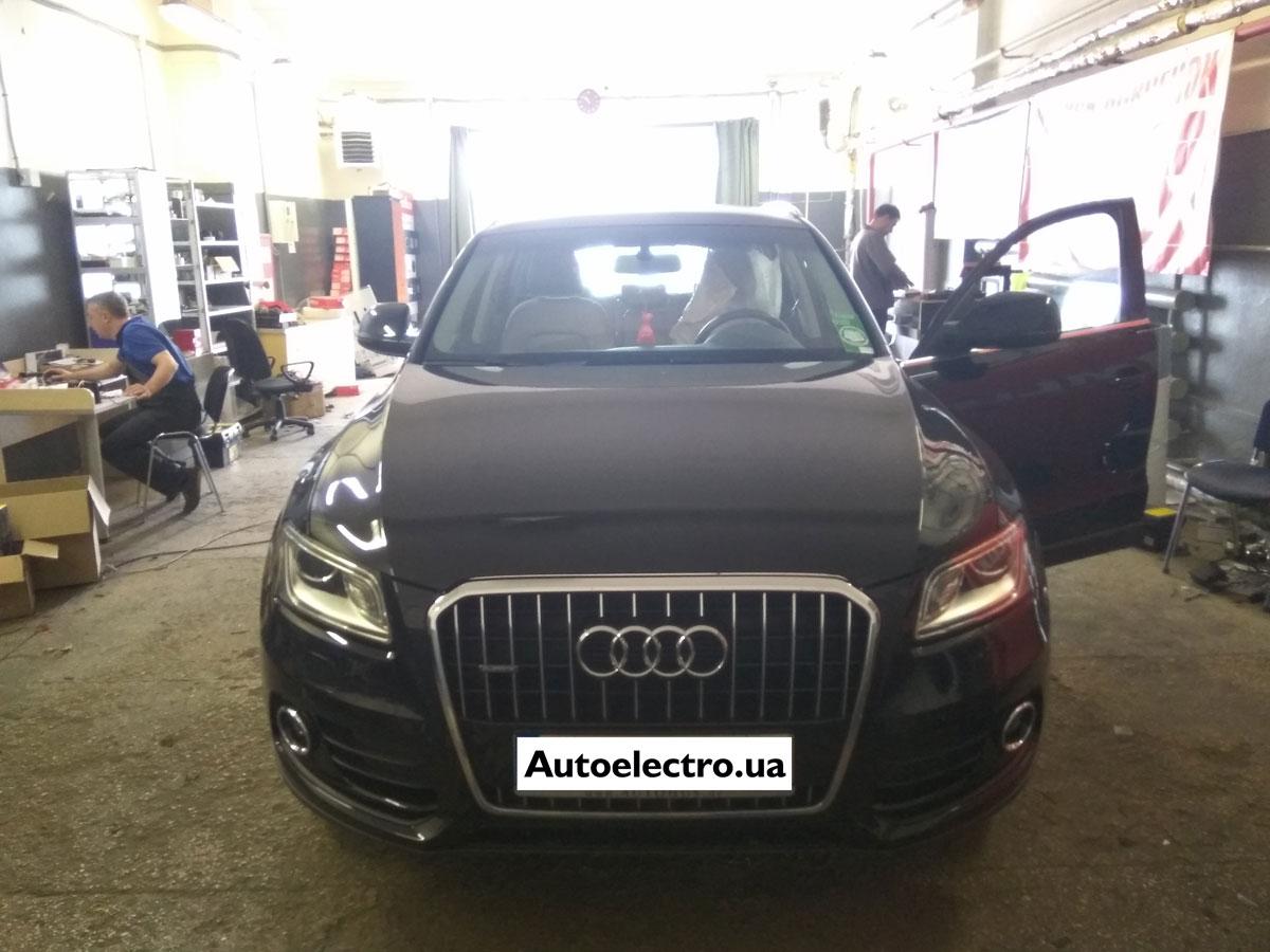 Установка автосигнализации на Audi Q5