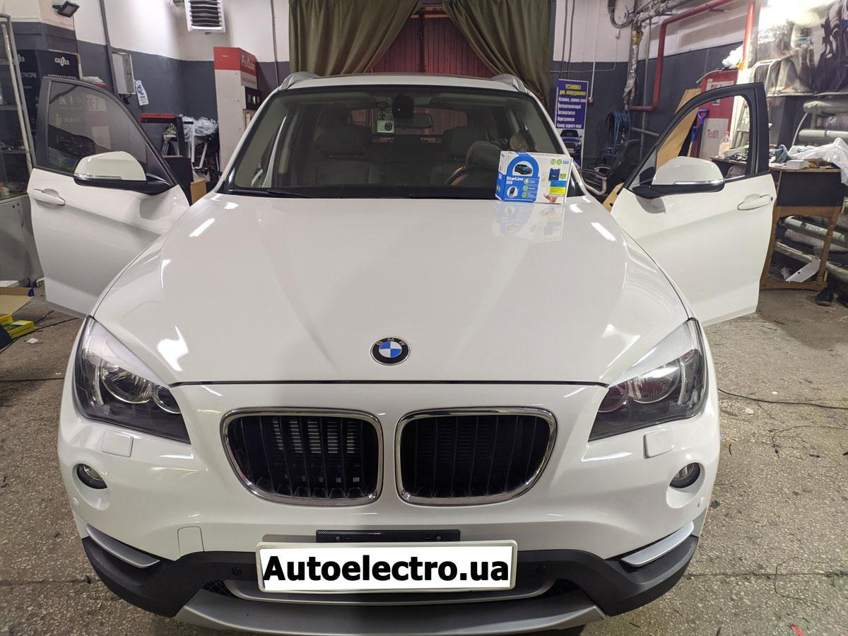 Установка автосигнализации, камеры заднего вида, парктроников на BMW X1