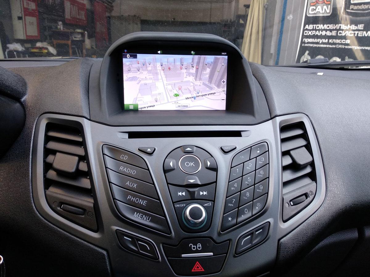 Установка штатной магнитолы на Ford Fiesta