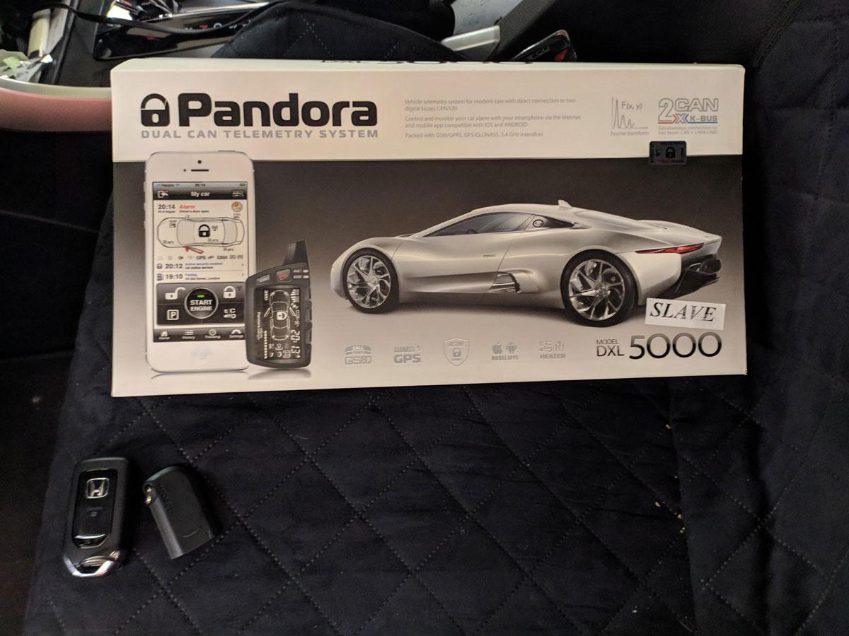 Установка автосигнализации на Honda Accrod
