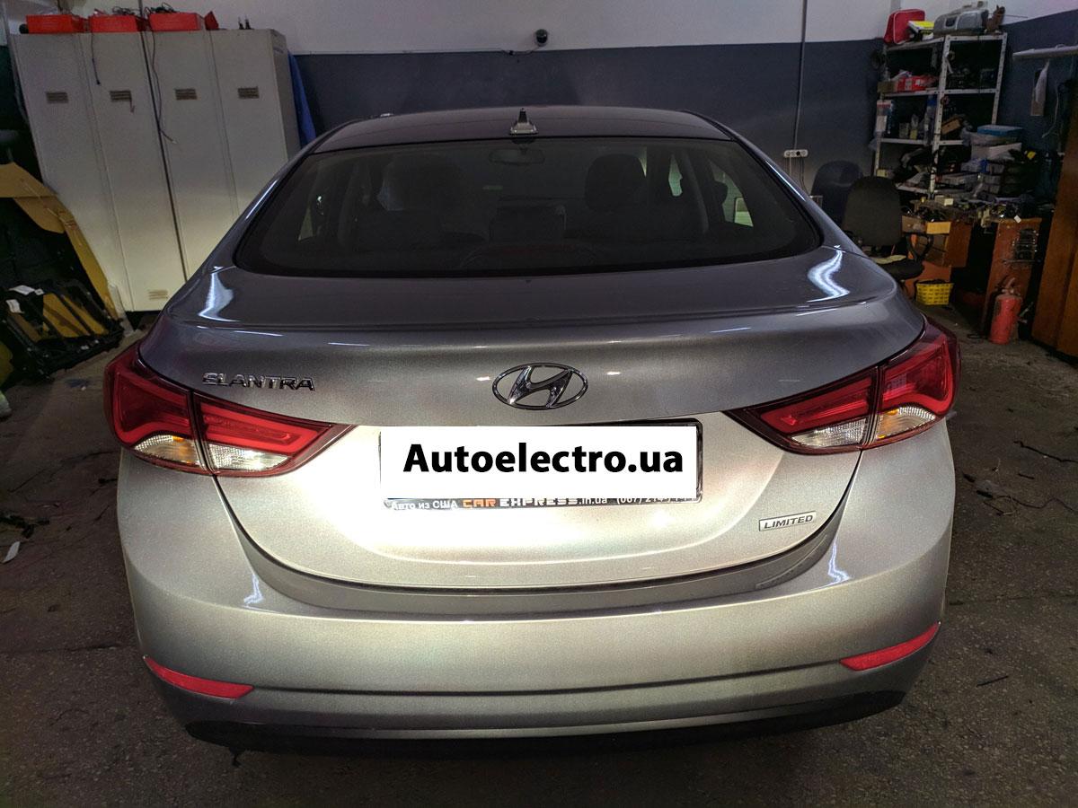 Установка автосигнализации на Hyundai Elantra