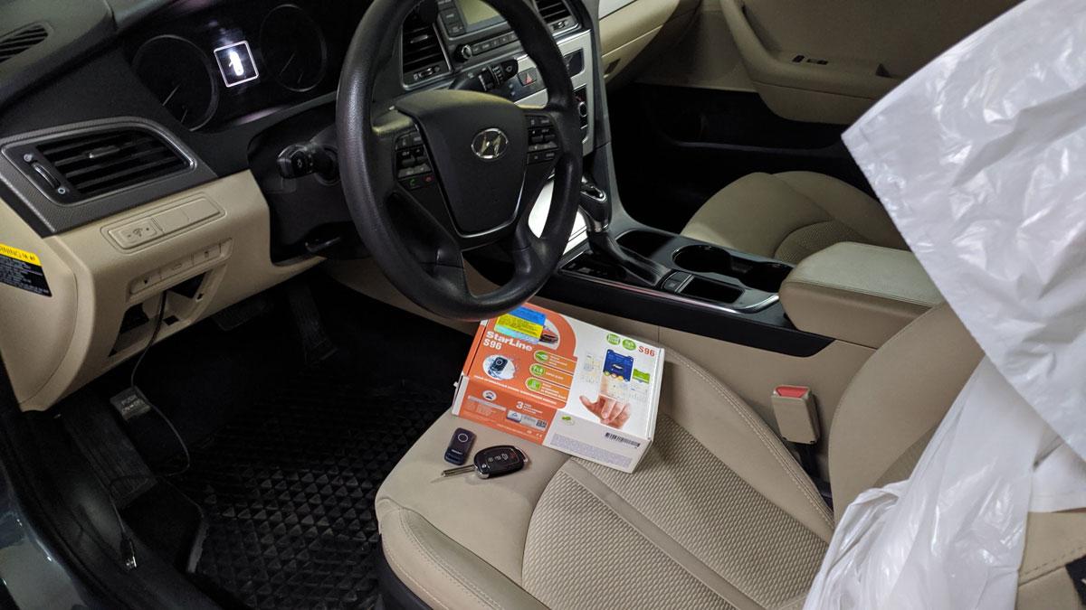 Установка автосигналізації з автозапуском на Hyundai Sonata