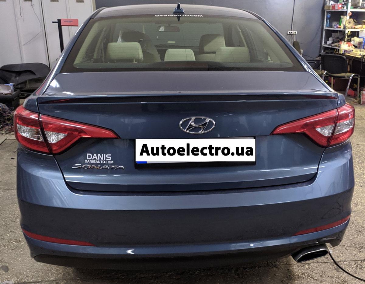 Установка автосигнализации с автозапуском на Hyundai Sonata