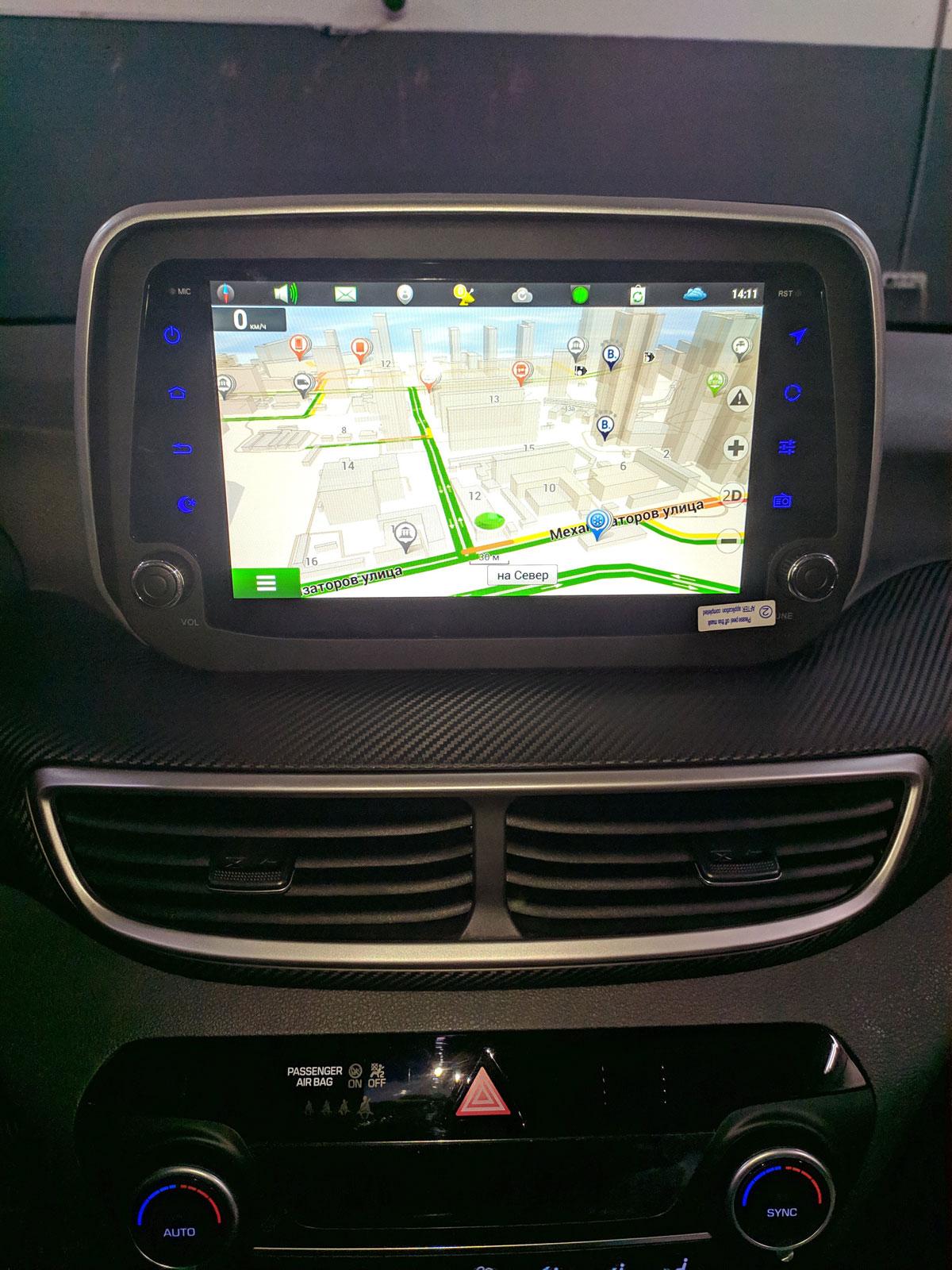 Штатная магнитола с навигацией Hyundai Tucson