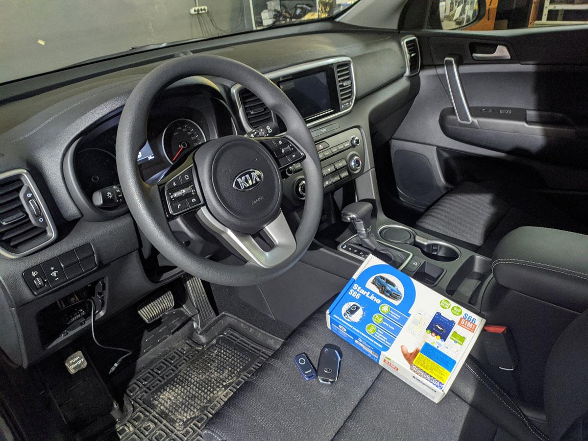 Установка автосигнализации на KIA Sportage