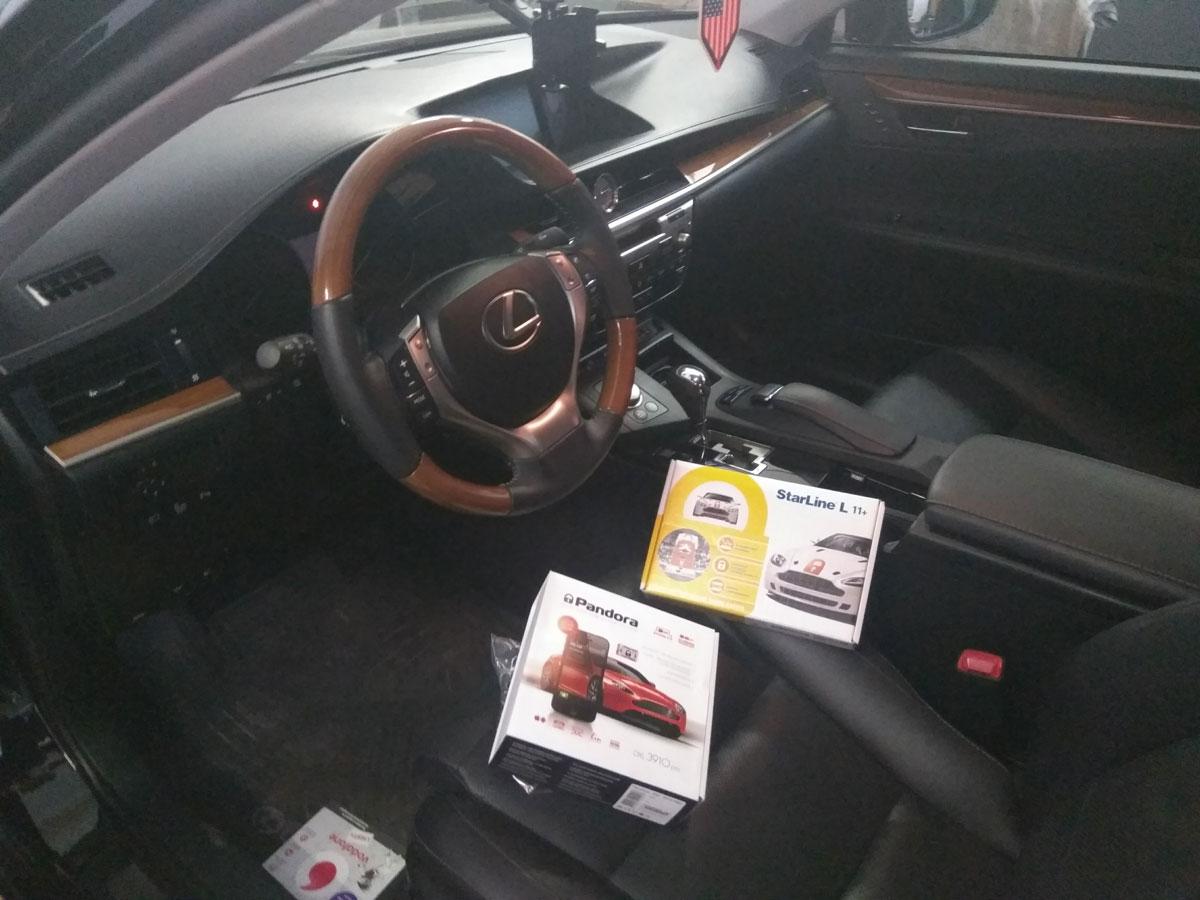 Установка автосигнализации на Lexus GS