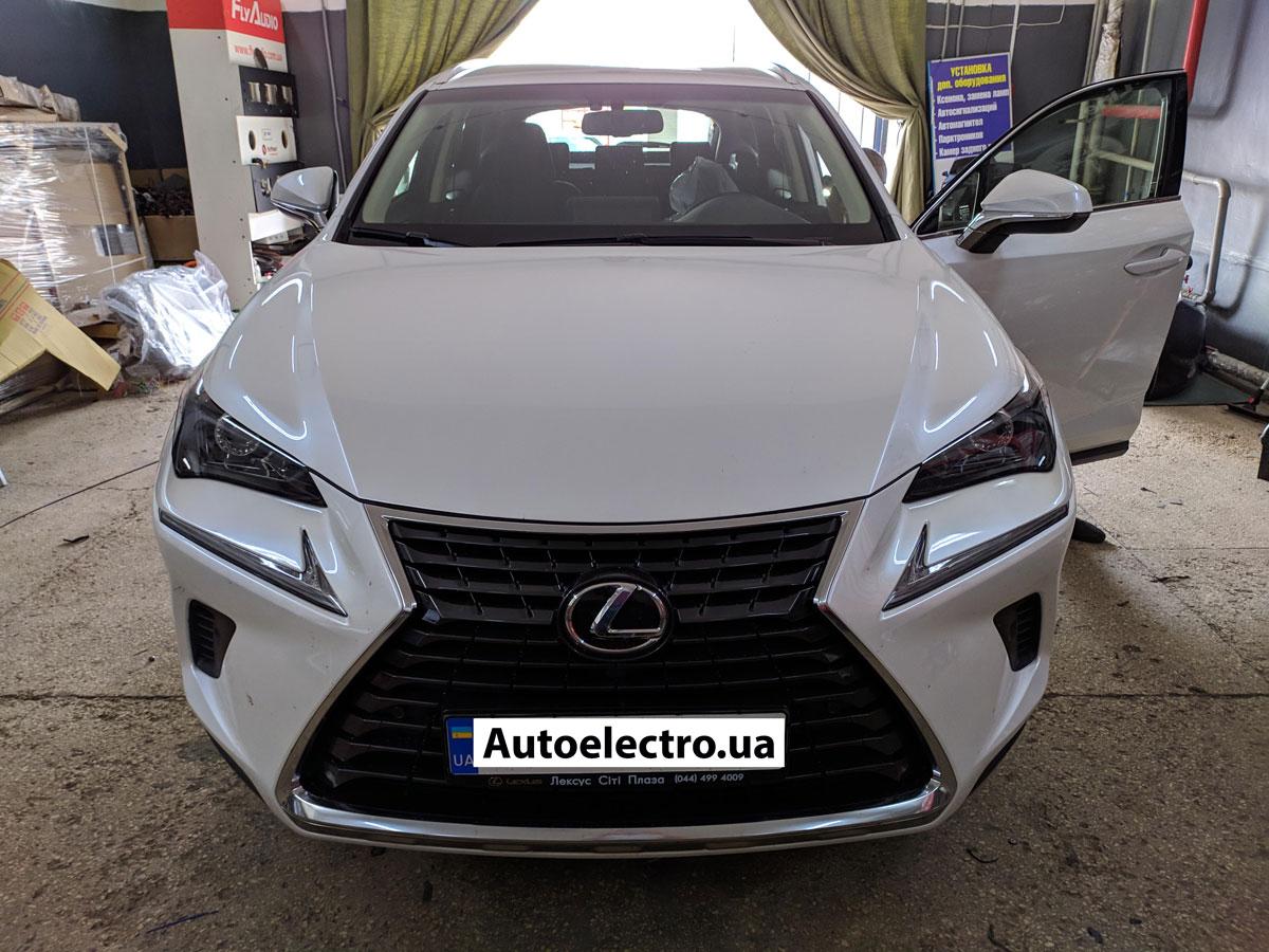 Установка автосигнализации на Lexus NX300