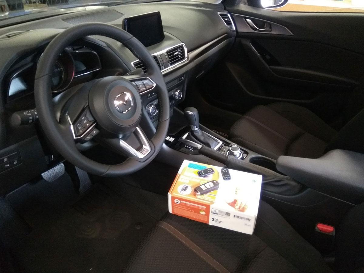 Установка автосигнализации на Mazda 3