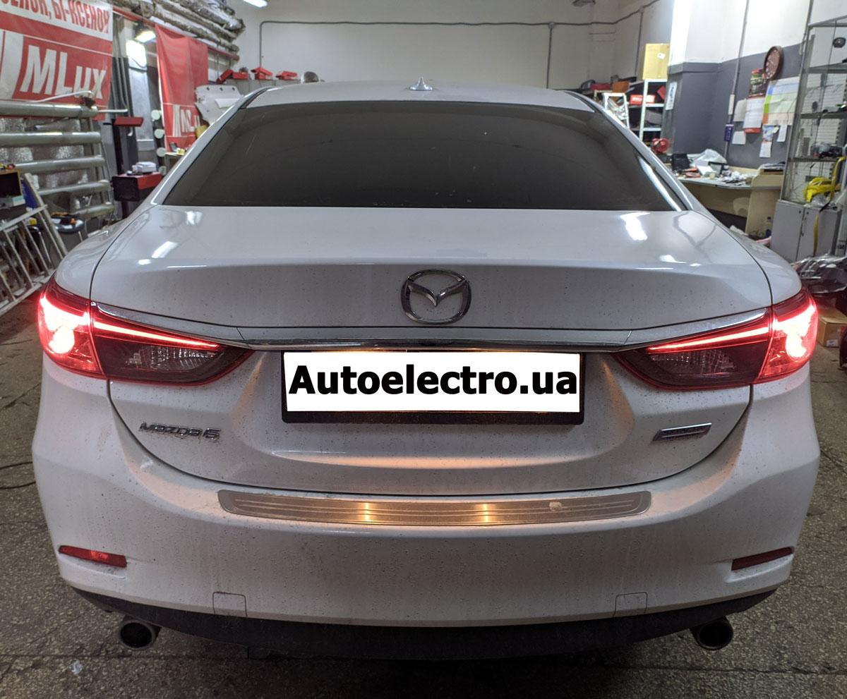 Установка автосигнализации с автозапуском Starline S96 на Mazda 6