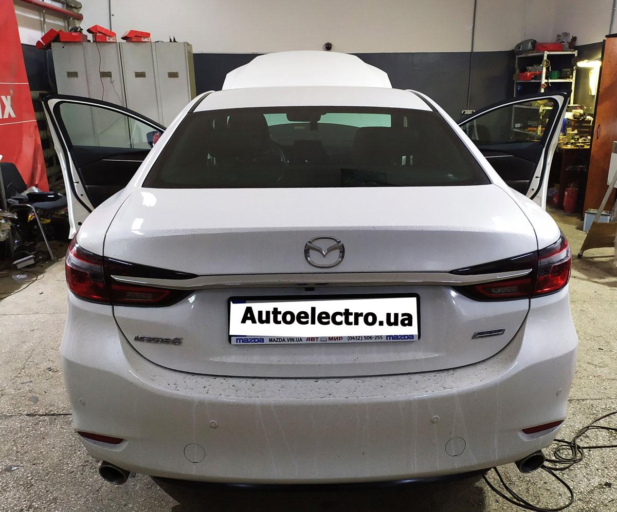 Установка автосигнализации Starline S66 на Mazda 6