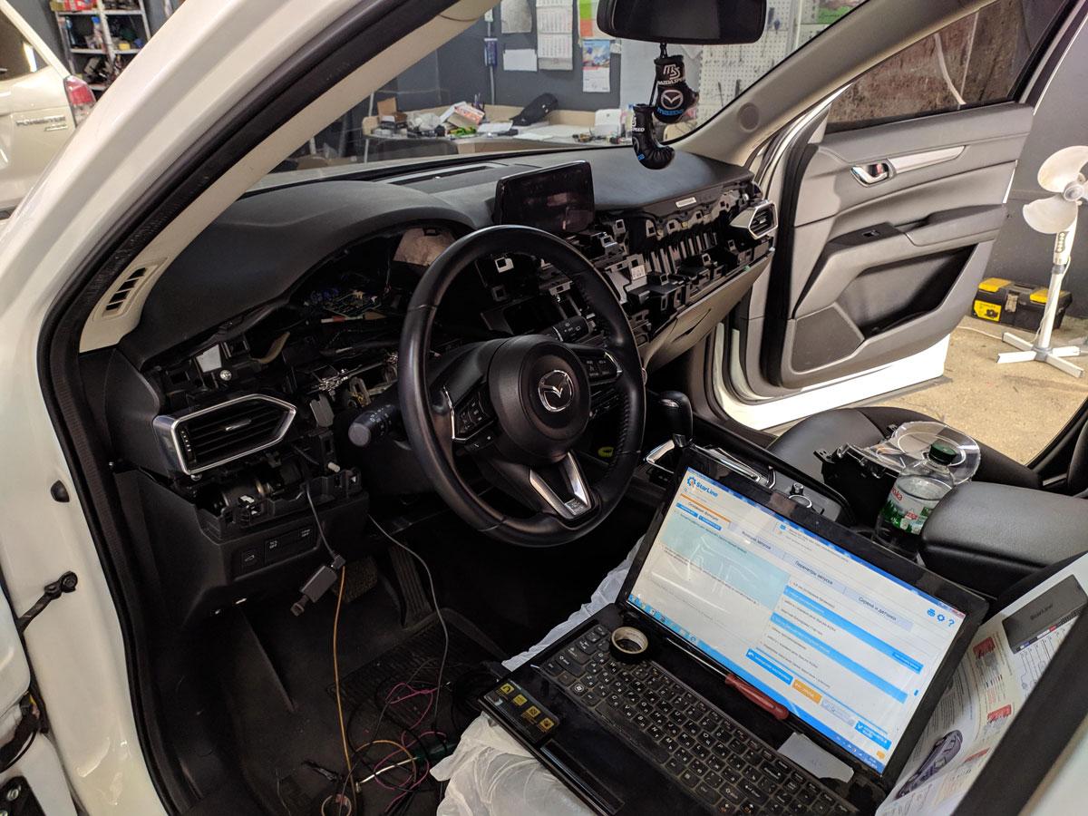 Установка автосигнализации на Mazda CX5