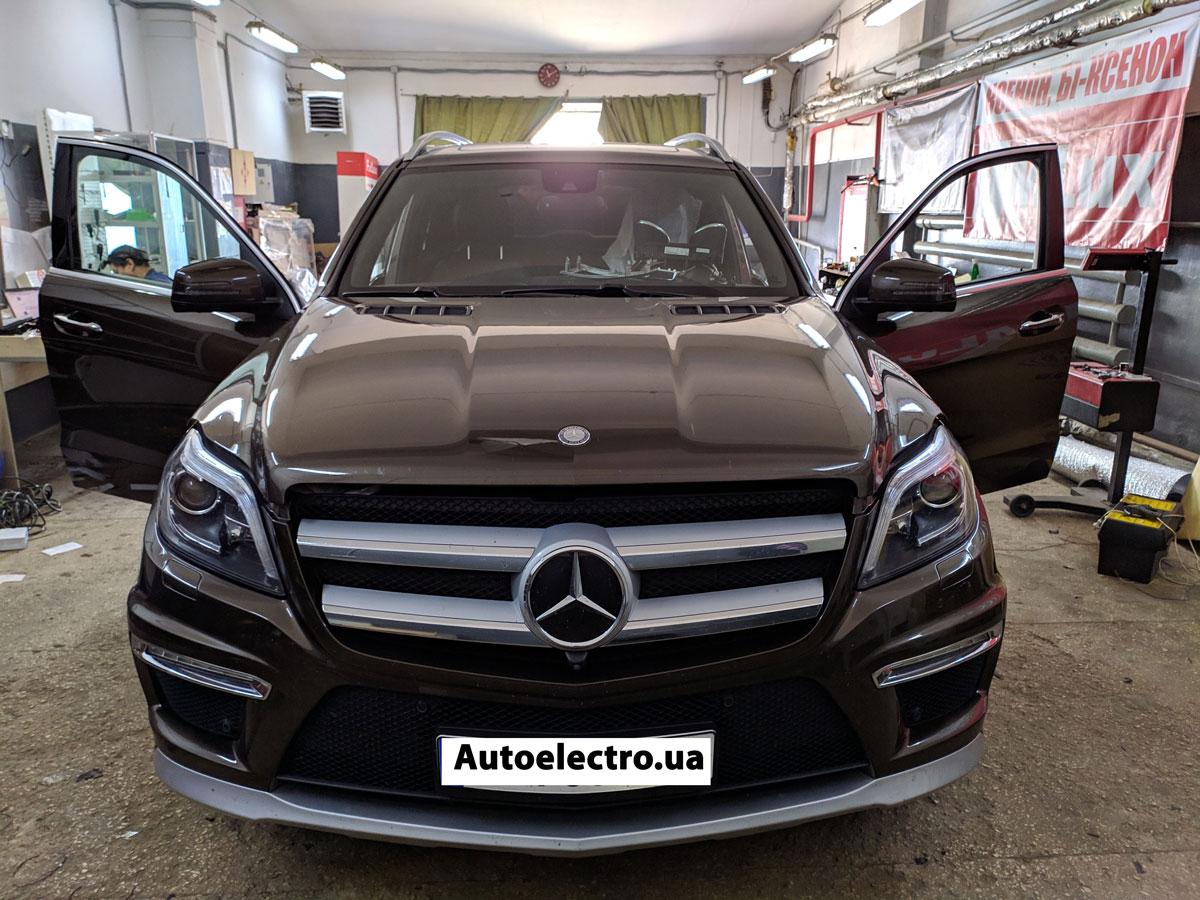 Установка автосигнализации на Mercedes GL W164