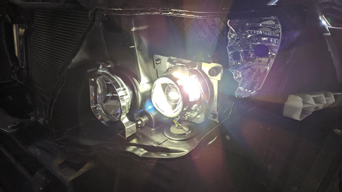 Установка біксенонових лінз на Mitsubishi Pajero