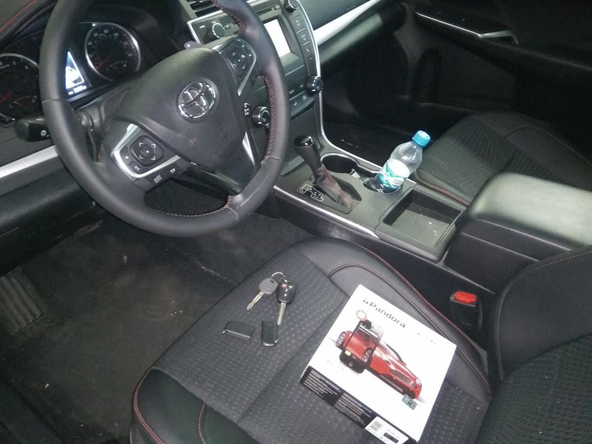Установка автосигнализации на Toyota Camry V50