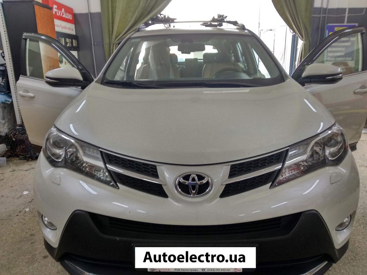 Установка штатной магнитолы на Toyota RAV4