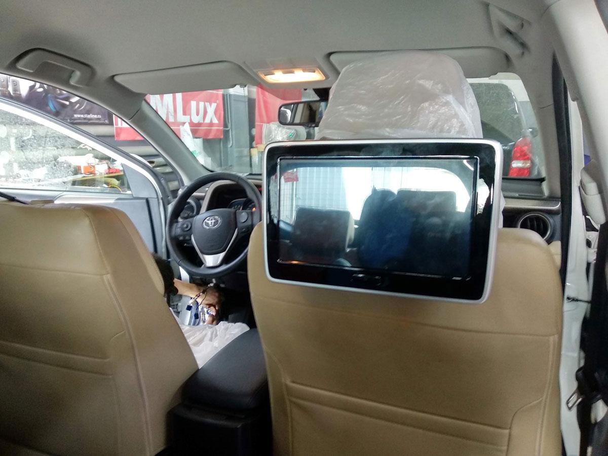 Установка монитора в подголовник Android на Toyota RAV4