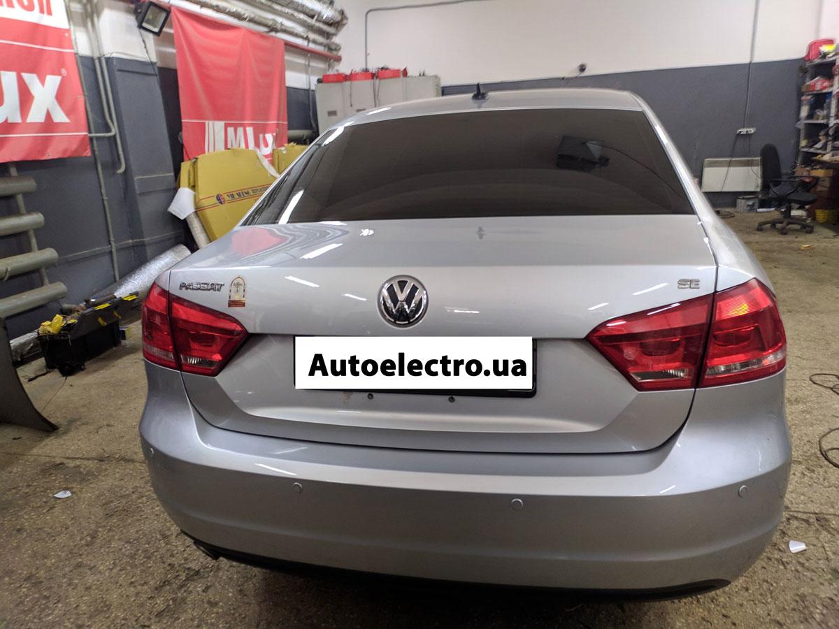 Установка парктроников на VW Passat B7