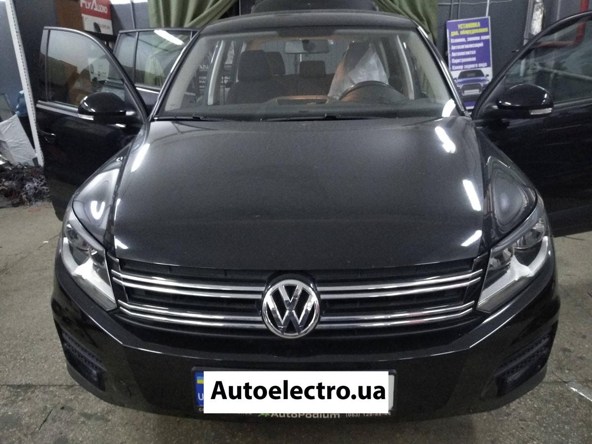 Установка штатной магнитолы на VW Tiguan