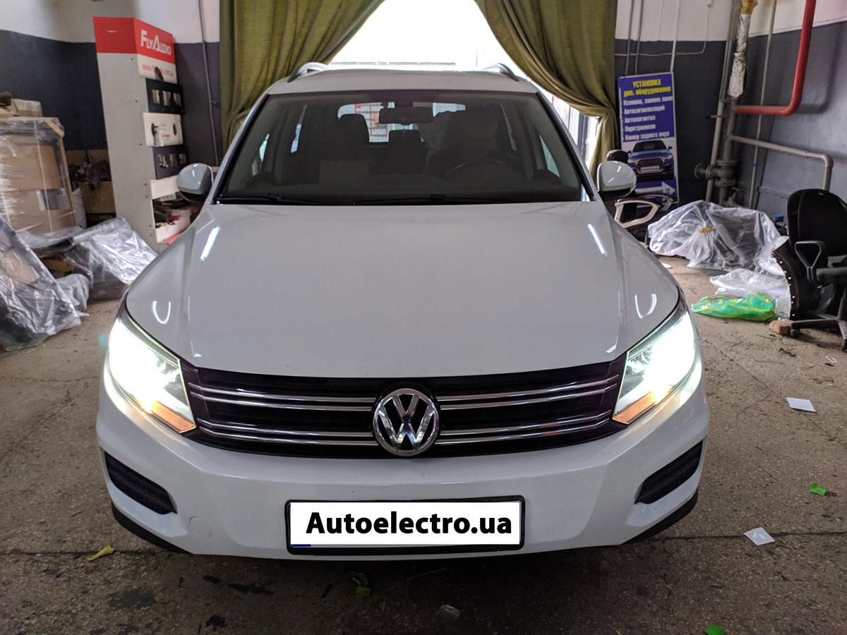 Установка автосигнализации на VW Tiguan