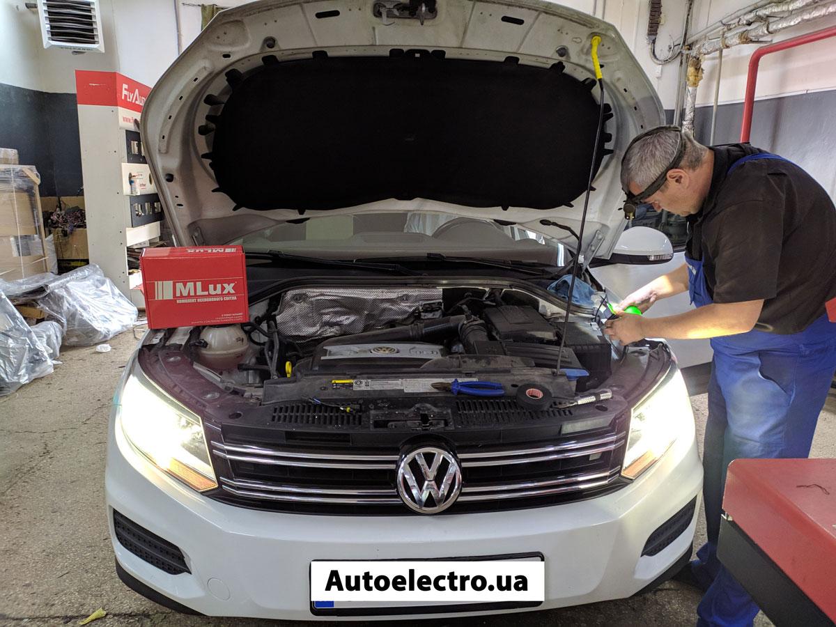 Установка ксенона на VW Tiguan