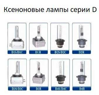 штатные ксеноновые лампы серии D