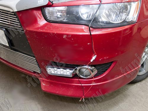 Установка DRL на Mitsubishi Lancer X