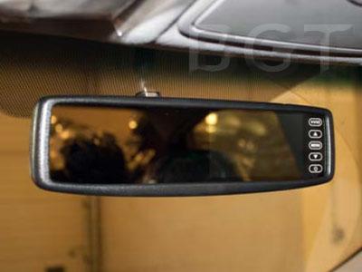установка автомобильного зеркала с экраном