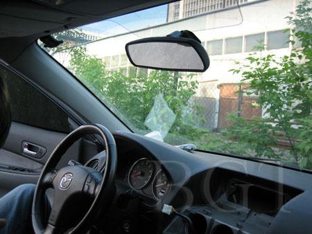 Установка зеркала заднего вида с GPS