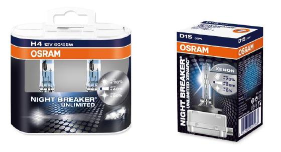 Ксеноновые лампы Osram Night Breaker Unlimited