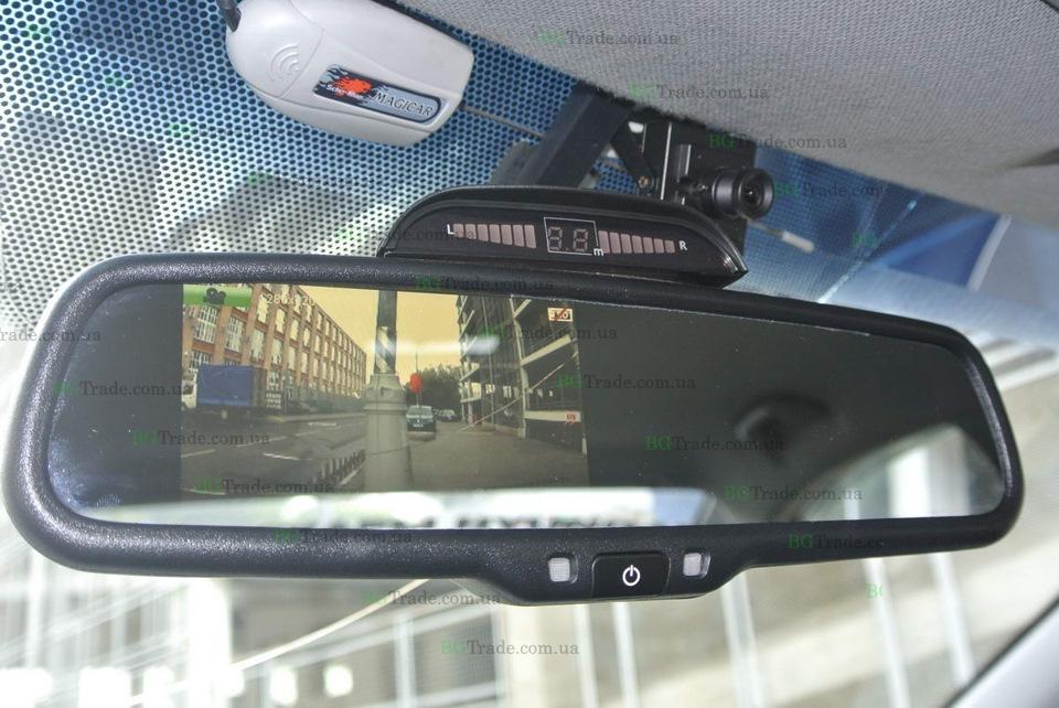 Установка зеркала видеорегистратора на Hyundai Accent 2011